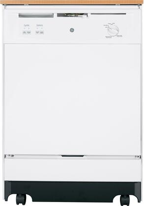 "GE 25"" Convertible Portable Dishwasher White-on-White GSC3500DWW"