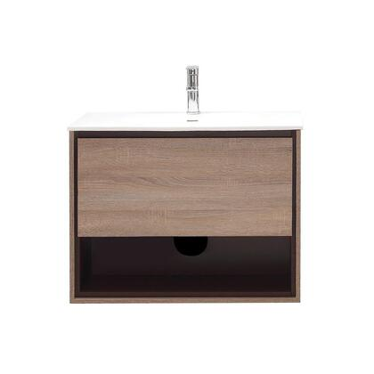 SONOMA-VS31-RK Sonoma Collection 31 Vanity Combo with Laminated Hardwood Plywood  Finger-Groove Drawer Pull  Soft Close Door  Open Shelf  Pre-Drilled Faucet
