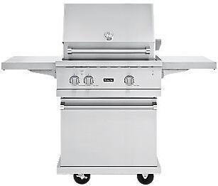 VGBQ53024N Professional 5 Series Outdoor Ultra-Premium Gas Grill with 25 000 BTU Stainless Steel Burners  15 000 BTU Infrared Rear Burner  Easy Lift Canopy 353846