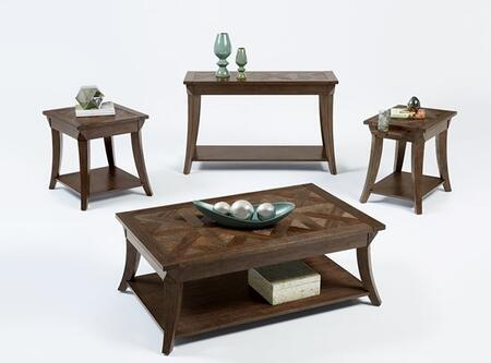 Appeal l T357-04-01-05-29 4-Piece Set with End Table  Cocktail Table  Sofa Table and Chairside Table in Dark