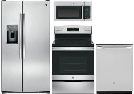 4 Piece Kitchen Appliance Package in Stainless