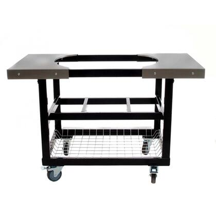 PR320 Stainless Steel Cart with Side Tables  Shelves and Basket for Oval