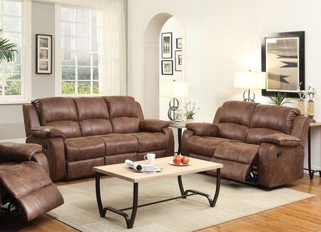 Zanthe II 51440SLR 3 PC Living Room Set with Sofa + Loveseat + Recliner in 2 Tone Brown