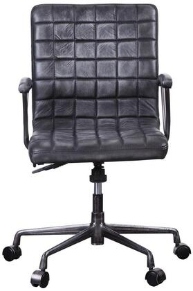 Barack Collection 92557 Executive Office Chair with 360 Degrees Swivel Seat  5-Star Caster Base  Adjustable Lift Height   Aluminum Frame and Top Grain Leather