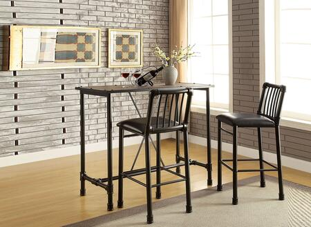 Caitlin Collection 72030SET 3 PC Bar Table set with 48