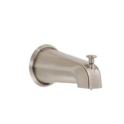 D606425BN 8 in. Wall Mount Tub Spout with Diverter in Brushed
