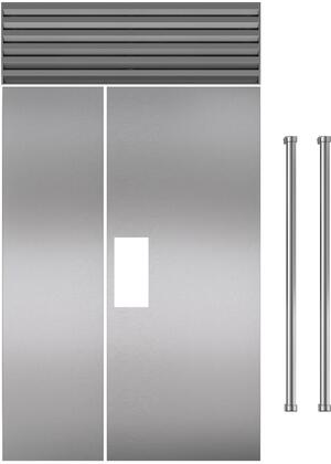 Set of 2 Door Panel Set with Professional Handles for Flush Inset  in Stainless