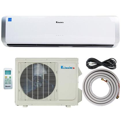 "KSIO012H123 33"""" Ductless Mini Split Air Conditioner with 12000 BTU Cooling and Heating Capacity  23 SEER  Remote Control  Auto Restart and Turbo Mode:"" 601764"