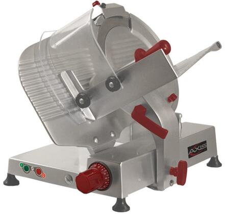AXS13GA 13 inch  Gear Automatic Meat Slicer with High Carbon Steel Blade  .60 HP Motor  Aluminum Meat Grip  in Stainless