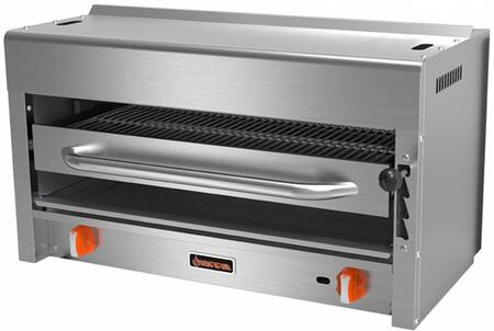 SRS-36 36 Salamander with 2 Burners  20000 BTU per Burner  40000 Total BTU  Stainless