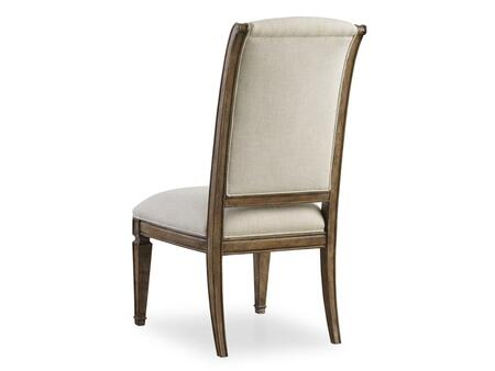 Solana Series 5291-75510 44 inch  Traditional-Style Dining Room Upholstered Side Chair with Tapered Legs  Carved Detailing and Fabric Upholstery in