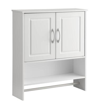 Trenton Collection 76420 25 inch  Bathroom Wall Mounted Cabinet with 2 Doors  1 Adjustable Interior Shelf  1 Exterior Shelf and 1 Towel Bar in