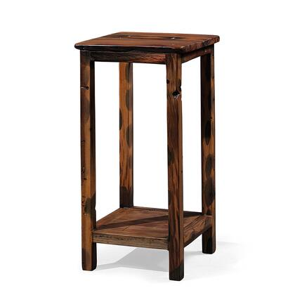 DS-J02 Aramis Side Table Unit with Two Tier  Acacia and Robinia Wood Construction in Brown