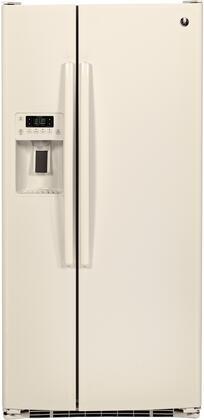 GE 23.2 Cu. Ft. Side-by-Side Refrigerator Bisque GSE23GGKCC
