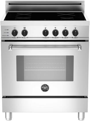 """MAS304 INS XT 30"""" Masters Series Induction Range with 3.4 cu. ft. European Convection Oven Self-Cleaning 4 Induction Heating Zones Boost Function and Pan"""