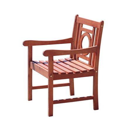 V1617 Malibu Eco-Friendly Outdoor Hardwood Garden Arm Chair  Natural