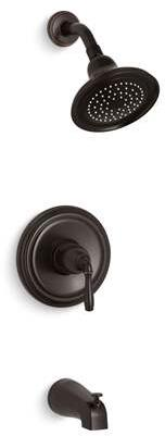 Devonshire Collection KTS395-4-2BZ Tub and Shower Faucet in Rubbed Bronze