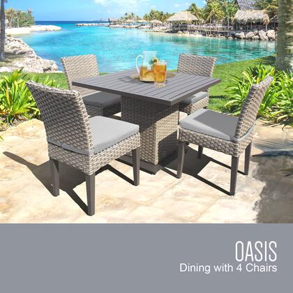 OASIS-SQUARE-KIT-4ADCC Oasis Square Dining Table with 4 Chairs with 1 Cover in