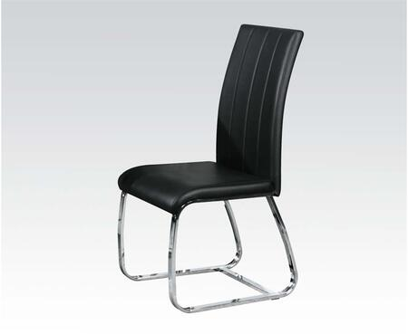 70802 Set of 2 Deion Side Chairs with PU Leather Upholstery in
