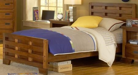 Heartland 1800-46CPB Full Captain's Bed with Wood Veneer Construction  Sand Break Edging and Radius Corners in Spice