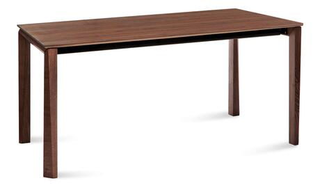UNIVE.T.181B.NCFNCA Universe Rectangular Dining Table with Self Contained Extensions  Aluminum Slides  Walnut Veneered Top and