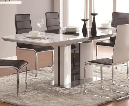 120941 Broderick Contemporary Rectangular Dining Table with Chrome Base  One 20