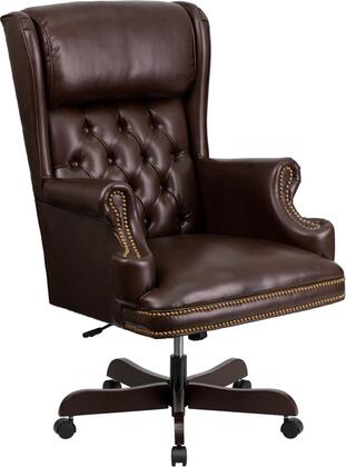 CI-J600-BRN-GG High Back Traditional Tufted Brown Leather Executive Office