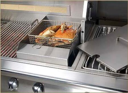AG-SF Steamer / Fryer Accessory for Gas Grills with Stainless Steel Construction  Includes Steaming Insert and Fry Basket  and Matching Stainless Steel Cover