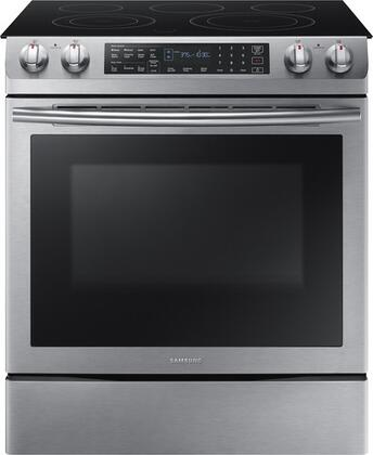 Samsung NE58K9430SS 30 Slide-in Electric Range with Smoothtop Cooktop, 5.8 cu. ft. Primary Oven Capacity, in Stainless Steel