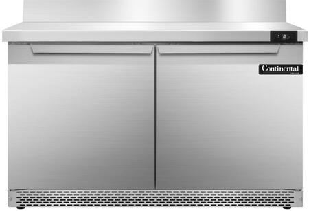 SWF48BSFB 48 inch  Worktop Freezer with 2 Solid Doors  6 inch  Backsplash  13.4 Cu. Ft. Capacity  Front Breathing Compressor  Aluminum Interior  Interior Hanging