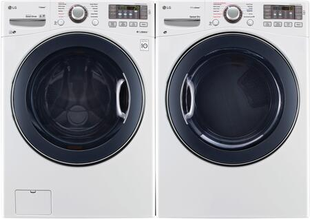 White Front Load Laundry Pair with WM3770HWA 27