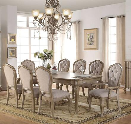 Chelmsford Collection 66050SET 9 PC Dining Room Set with Dining Table  2 Arm Chairs and 6 Side Chairs in Antique Taupe