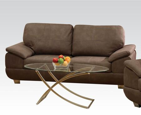 Corliss Collection 51670 Sofa with Stitched Detailing  Padded Arms and Nubuck Upholstery in Grey