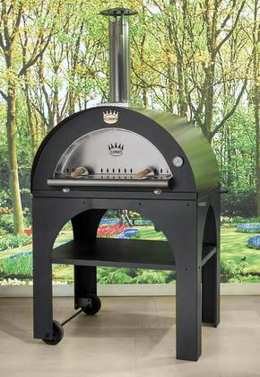 "PULCINELLA8060 45"" Pulcinella Series Direct Wood Burning Oven with 4 Pizzas Capacity  2 Minute Quick Cooking Time Per Pizza  Stainless Steel Construction"
