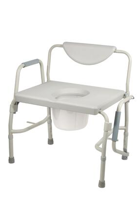 11135-1 Bariatric Drop Arm Bedside Commode