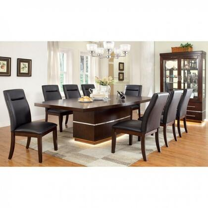 Lawrence Collection CM3130TEDT8CS 9-Piece Dining Room Set with 72