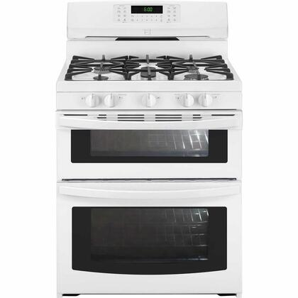 78042 30 Freestanding Double Oven Gas Range with 5 Burners  5.9 cu. ft. Total Capacity  Continuous Cast Iron Grates and Convection Oven in