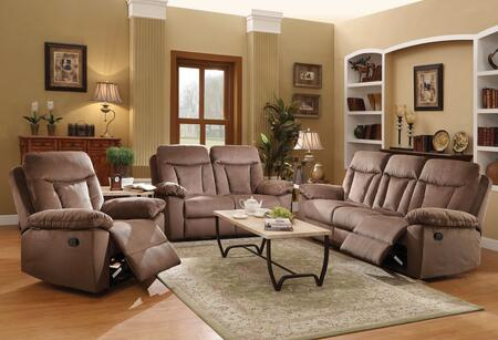 Elisha Collection 51425SLRT 6 PC Living Room Set with Sofa + Loveseat + Recliner + 3 PK Table Set in Chocolate