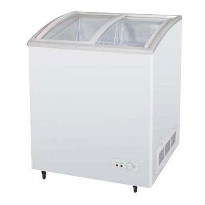 """TSD27CF 27"""" Chest Ice Cream Freezer with High Density PU Insulation  Anti-Rust Coating  Environmental Friendly Refrigeration System  Attractive Curved Glass"""