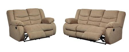Tulen Collection 98604SL 2-Piece Living Room Set with Reclining Sofa and Loveseat in
