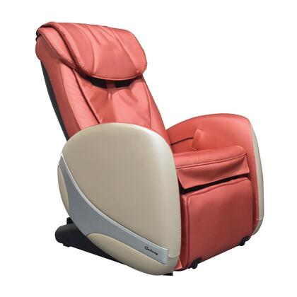 GALAXY SALON 2 ORANGE Massage Chair with 2 Stage Zero Gravity Positioning  Hide-A-Way Leg Massager  4 Auto Programs  Lower Back Heat and Power Backrest and Leg