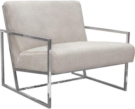 Luxe_Collection_LUXECHLT(NB)_Accent_Chair_with_Fabric_Upholstery__Polished_Stainless_Steel_Frame__Angled_Seat_for_Optimum_Comfort_and_Support_in