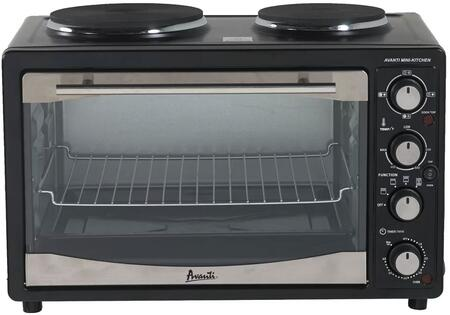 POBW111BIS 23 inch  Mini Convection Oven with 1.1 cu. ft. Capacity  Two Burners  Adjustable Rack  and Slide Out Crumb Tray  in