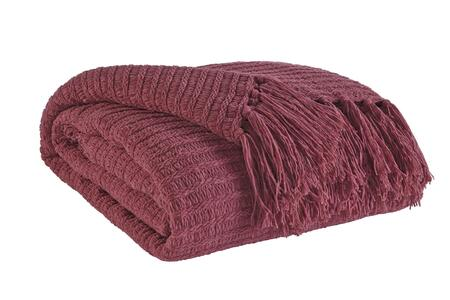 Santino Collection A1000153t Decorative Throw With Polyester/acrylic Blend  Fringe Details And Ribbed Knit In