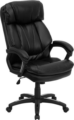 GO-1097-BK-LEA-GG High Back Black Leather Executive Office