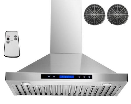 GWRB230 30 inch  Wall Mounted Range Hood with 760 CFM  65 dB  Innovative Touch  Halogen Lighting  3 Fan Speed  Stainless Steel Baffle Filter  Remote Control and