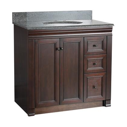 SHEA3621DR Shawna Collection 36 inch  Vanity with Oil Rubbed Bronze Knobs in Tobacco