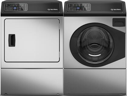 Stainless Steel Front Load Laundry Pair with FF7004SN Front Load Washer and DF7000SE Electric