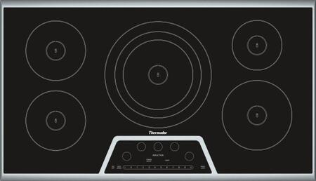 "CIT365KB 37"" Masterpiece Series Smoothtop Electric Induction Cooktop With 5 Elements Anti-Overflow System Speed Heating Keep Warm Function In"