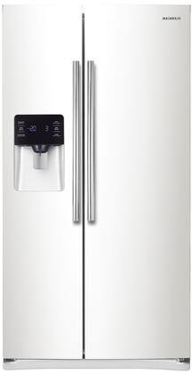Samsung 24.5 Cu. Ft. Side-by-Side Refrigerator with Thru-the-Door Ice and Water White RS25H5111WW